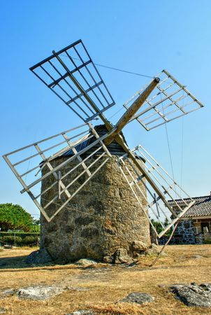 Montedor windmill in Viana do Castelo, Portugal