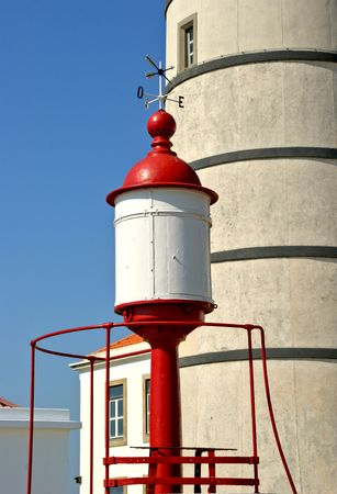 Detail of Boa Nova Lighthouse in Matosinhos, Portugal Banco de Imagens