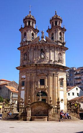 Church of La Peregrina in Pontevedra, Spain Banco de Imagens
