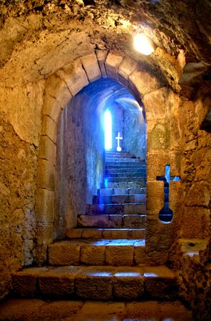 Inside Santa Maria da feira castle, Portugal Editorial
