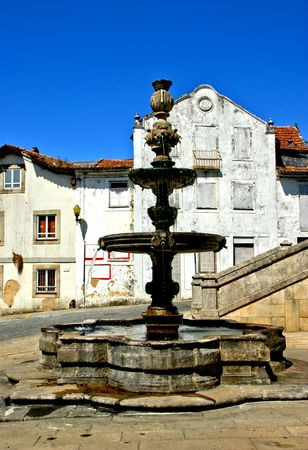 Renaissance fountain in Santa Maria da feira, Portugal