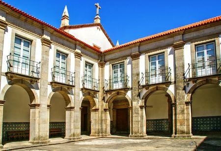 Cloister of Loios convent in Santa Maria da Feira, Portugal