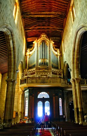 Organ of Our Lady of Oliveira church in Guimaraes, Portugal