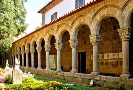 Romanesque Arcade of the former Collegiate of Guimaraes, Portugal Banco de Imagens - 122108710