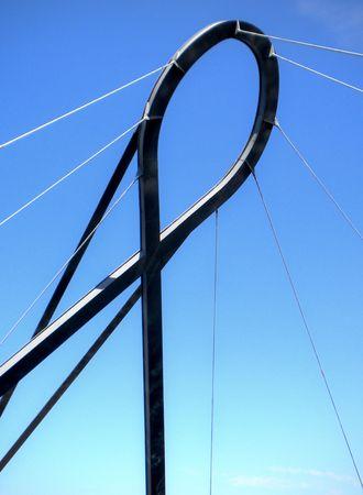 Pawn bridge in Aveiro, Portugal Banco de Imagens