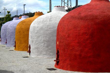 Colorful wine tanks in Portugal Banco de Imagens - 122108724