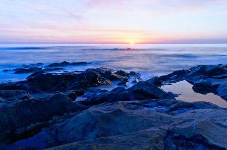 Beach sunset in Oporto, north of Portugal Banco de Imagens - 122108523
