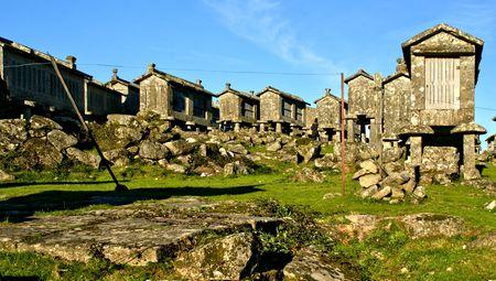 Lindoso granaries in National Park of Peneda Geres, Portugal