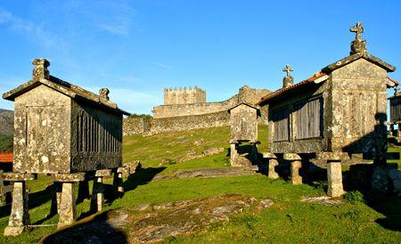 Lindoso granaries in National Park of Peneda Geres, Portugal Banco de Imagens - 122108364