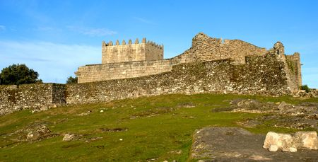 Lindoso castle in National Park of Peneda Geres, Portugal Banco de Imagens