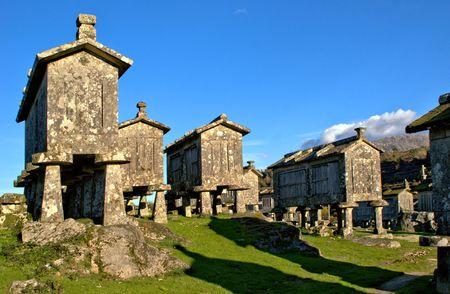 Lindoso granaries in National Park of Peneda Geres, Portugal Banco de Imagens - 122108369