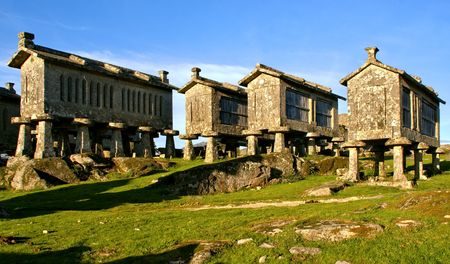 Lindoso granaries in National Park of Peneda Geres, Portugal