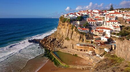 Azenhas do Mar village in Sintra, Portugal Banco de Imagens