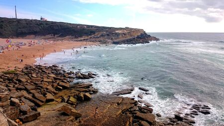 Apple beach in Sintra, Portugal Banco de Imagens - 128074719