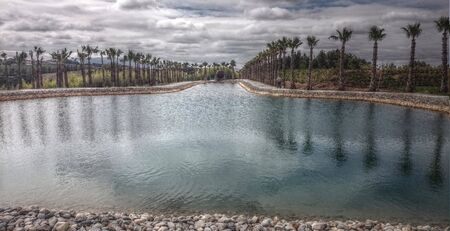 Budha Eden lake in Bombarral, Portugal Banco de Imagens - 128074720