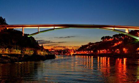 Bridge over Douro river in Oporto, Portugal Banco de Imagens - 128074752