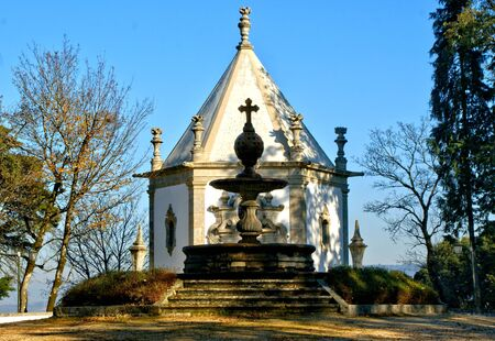 Chapel in park of Bom Jesus in Braga (Portugal) World Heritage