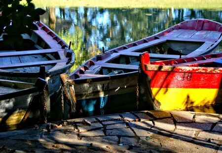Lake boats on park of Bom Jesus in Braga (Portugal) World Heritage Banco de Imagens