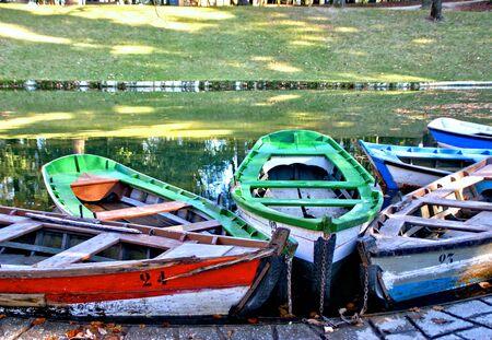 Lake boats on park of Bom Jesus in Braga (Portugal) World Heritage Banco de Imagens
