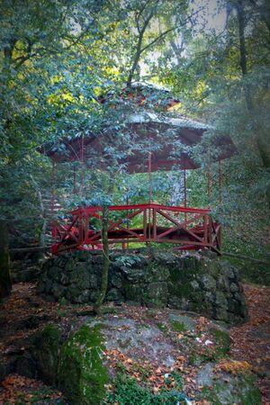 Park of Bom Jesus in Braga (Portugal) World Heritage Banco de Imagens - 128074760