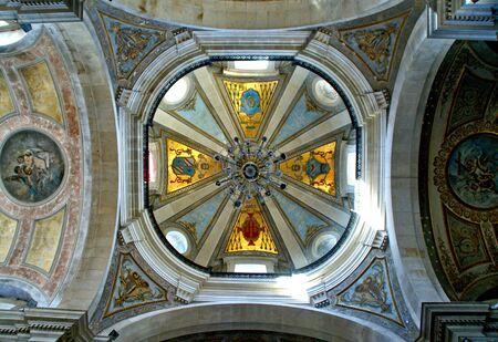 Inside church of Bom Jesus in Braga (Portugal) World Heritage