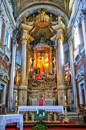 Inside church of Bom Jesus in Braga (Portugal) World Heritage