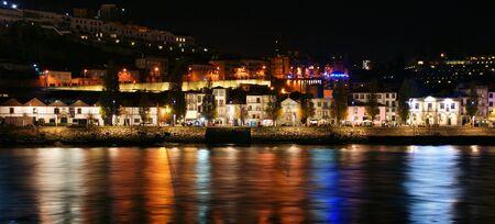 Douro River near Ribeira in Oporto, Portugal Banco de Imagens