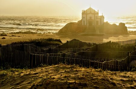 Chapel of the Lord of the Stone in Miramar, Portugal Banco de Imagens - 128074812