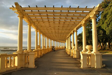 Coastal way with Pergola at Foz do Douro, Oporto, Portugal