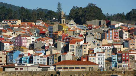 Roofs of La Guardia in Galicia, Spain