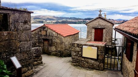 Coastal village of Combarro in Galicia, Spain