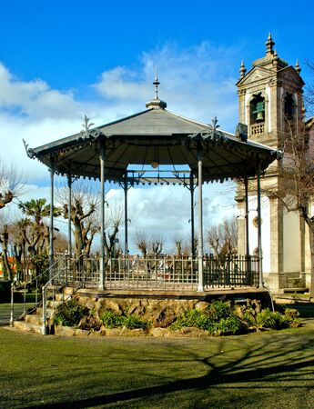 Bandstand near Bom Jesus de Matosinhos church in north of Portugal Banco de Imagens