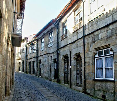 Old church street in Vila do Conde, Portugal Banco de Imagens - 128074938