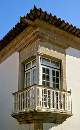 Renaissance balcony in Vila do Conde, Portugal Banco de Imagens