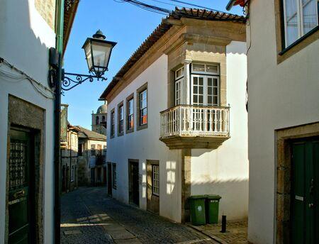 Old church street in Vila do Conde, Portugal Stock Photo - 128074955