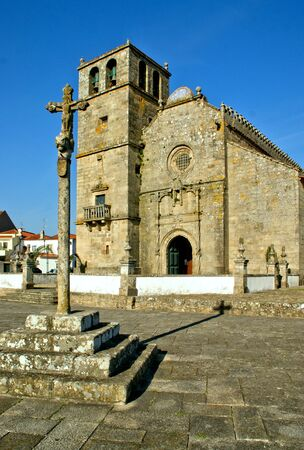 Church of Sao Francisco de Azurara in Vila do Conde, Portugal Stock Photo