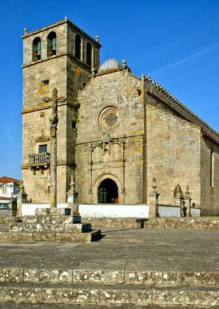 Church of Sao Francisco de Azurara in Vila do Conde, Portugal Banco de Imagens