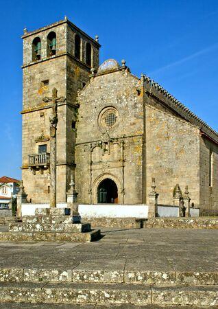 Church of Sao Francisco de Azurara in Vila do Conde, Portugal Stock Photo