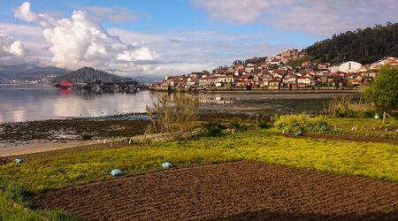 Villaggio costiero di Combarro in Galizia, Spagna
