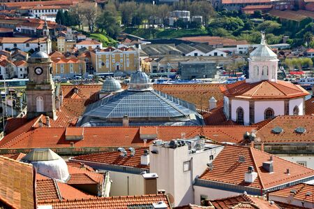 Panoramic view of Douro river and rooftops of Porto, Portugal Stock Photo - 128074963