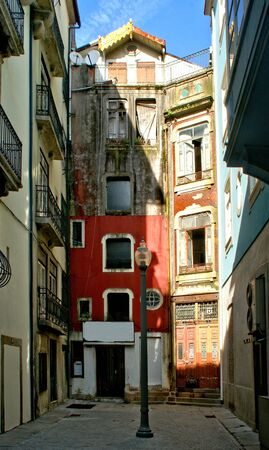 Alley in the historic center of Porto, Portugal
