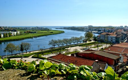 River mouth in Vila do Conde, Portugal Banco de Imagens - 128074971