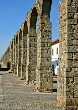 Medieval aqueduct in Vila do Conde, Portugal