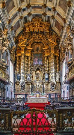 Main chapel of the Porto cathedral, Portugal Editorial