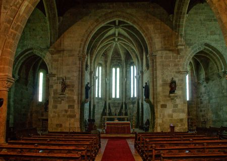 Inside Santa Clara's church in Vila do Conde, Portugal Stock Photo - 128079616
