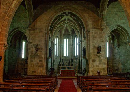 Inside Santa Clara's church in Vila do Conde, Portugal Banco de Imagens - 128079616