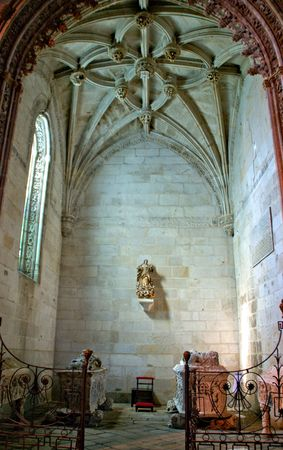 Inside Santa Clara's church in Vila do Conde, Portugal