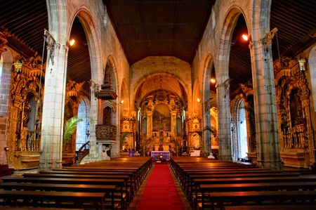 Interior of the mother church of Vila do Conde, Portugal