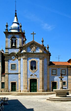 Our Lady of Help Chapel in Penafiel, Portugal Stock Photo - 132172990
