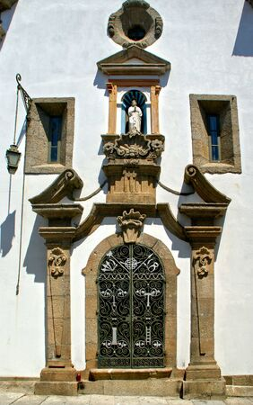 Eastern facade of the Church of Mercy in Penafiel, Portugal Banco de Imagens